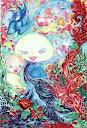 مهر مادري عشق مادر طبيعت نقاشي مينياتور نگارگري سيد امين نبي پور با خودکار و مداد رنگي