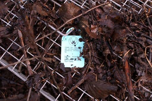 MKJ Laillinen pyydys muovimerkki