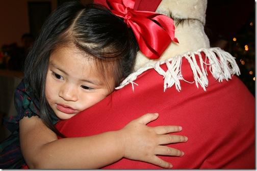 hugging santa 28 mos