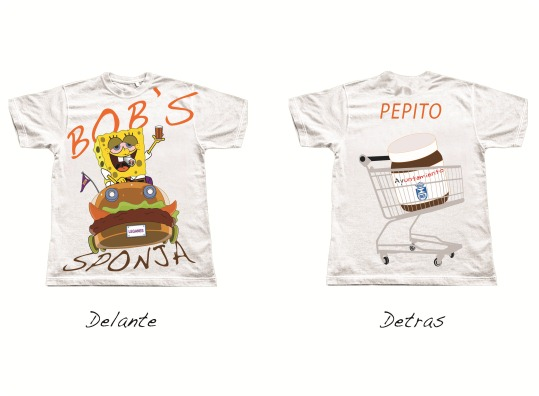 2 Camisetas de la peña BLANCA