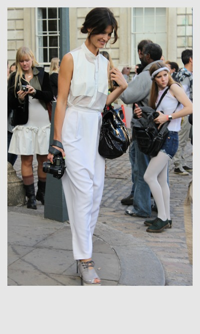 London Fashion Week Street Style White Outift