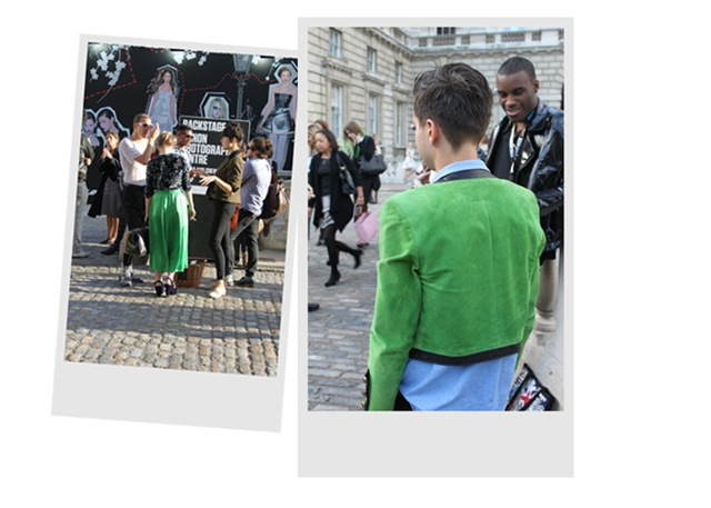 London Fashion Week Green Style