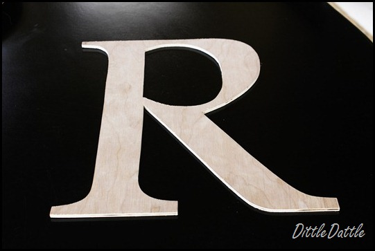 Large Letter Cut out of plywood