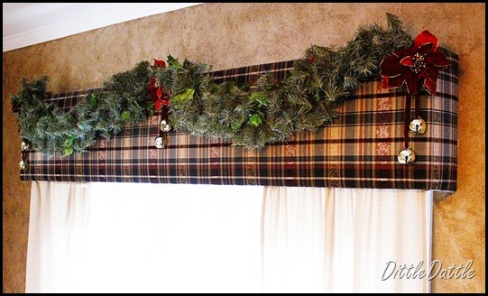 Christmas garland and valance