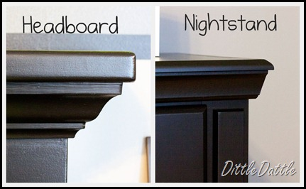 headboard and nightstand molding