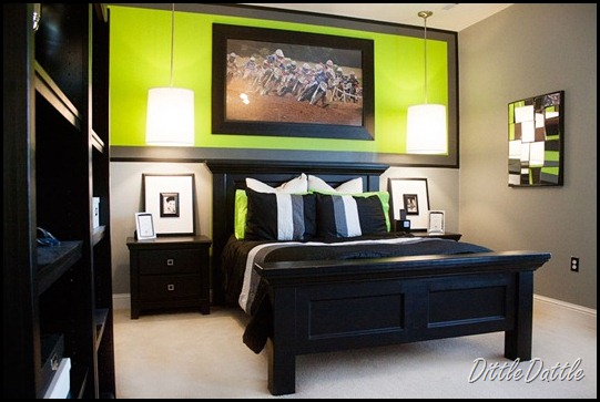 Black,-white,-gray-and-lime-green-Teen-Bedroom