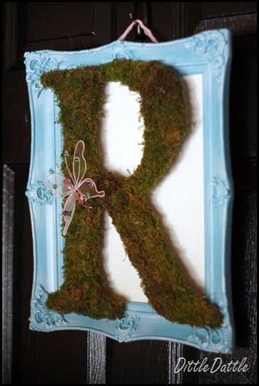 Framed Letter Wreath