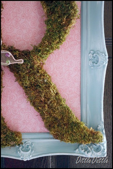 Adding color to mossy letter Wreath