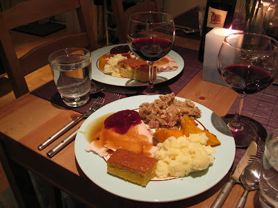 Thanksgiving dinner in London