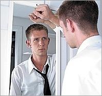 man mirror tie