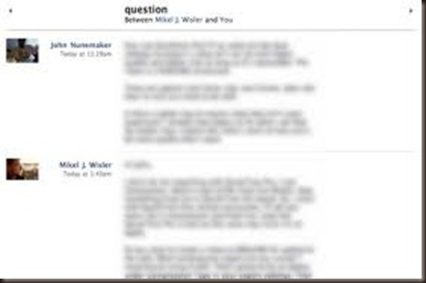 facebook message blurred