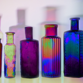Antique bottles by Loredana  Smith - Abstract Patterns