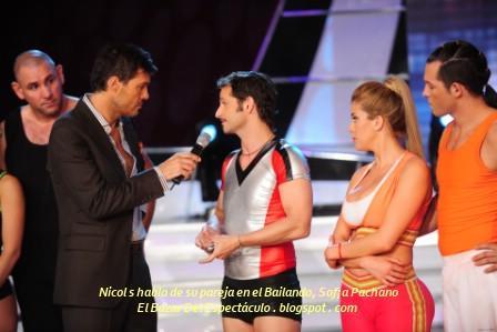 Nicolas habla de su pareja en el Bailando, Sof¡a Pachano.JPG