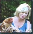 Robin Ripley with her chicken