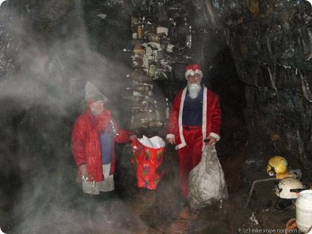 santa brings bags of gear