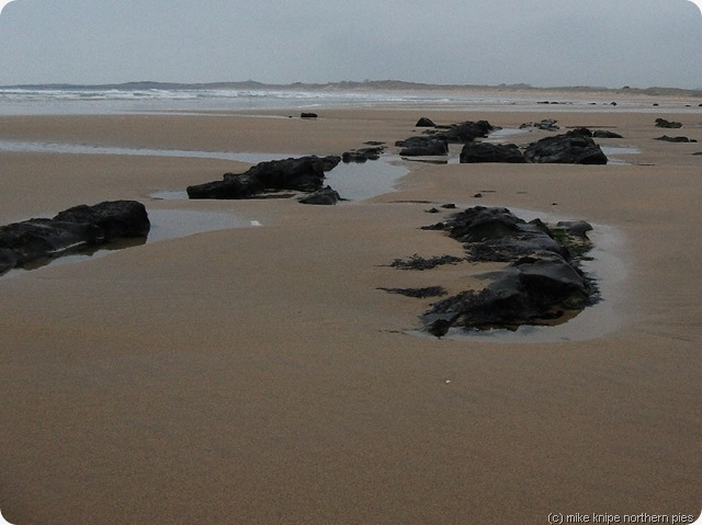 whin sill outcrops in beadnell bay