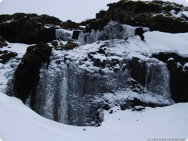 nine standards frozen waterfall