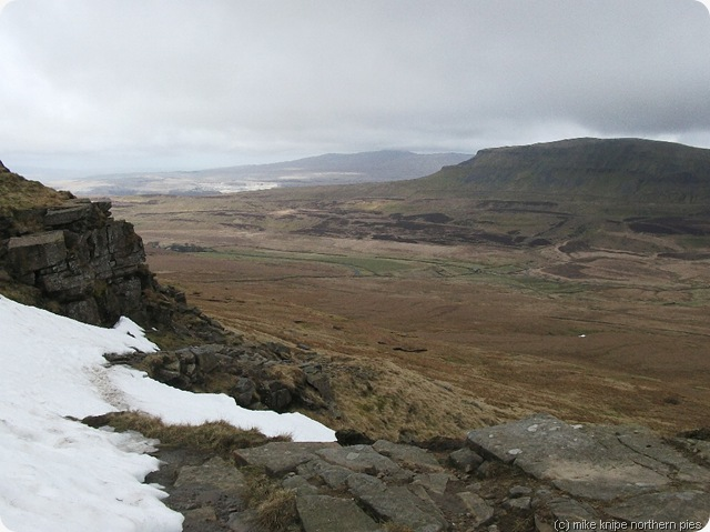 penyghent from the patch of snow