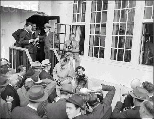 Leni Riefenstahl as she arrived in New York, November 4, 1938