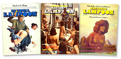 Selection of National Lampoon Covers (1975, 1976, 1978)