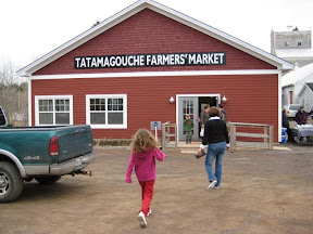 The Tatamagouche Farmer's Market on Saturday mornings in Tatamagouche