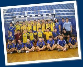 Φιλική συνάντηση χάντμπολ μεταξύ του Άρη Νίκαιας και της Εθνικής Specials Olympics