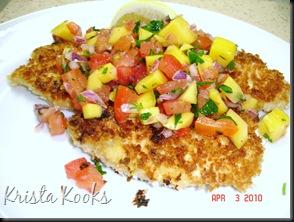 Brazilian Chicken Cutlets with Raw Tropical Sauce Krista Kooks