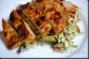 Krista Kooks Chipotle Glazed Chicken Breasts and Grilled Chopped Veggie Salad 3