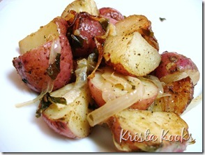 Krista Kooks Mustard Roasted Potatoes