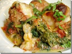 Krista Kooks Gluten Free Meatball and Spinach No-Sagna 2