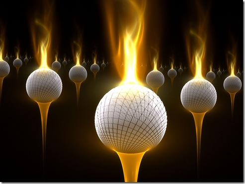 Burning-Golf-Balls-Wallpaper