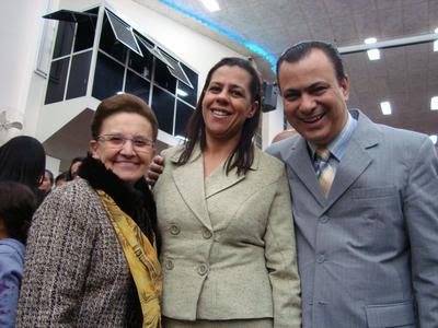Irmãs Vanda Freire, Irmã Maria Filitto, e Pr. Gerson Filitto
