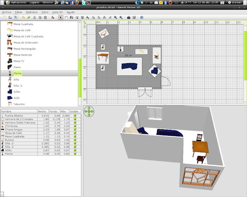 Sweet home 3d blender y yafaray el atareao - Sweet home muebles ...