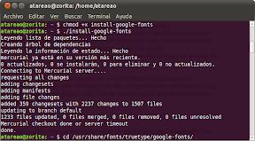 Instalar todas las fuentes de Google en Ubuntu