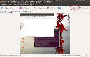 Editando capturas de pantalla con Shutter en Ubuntu