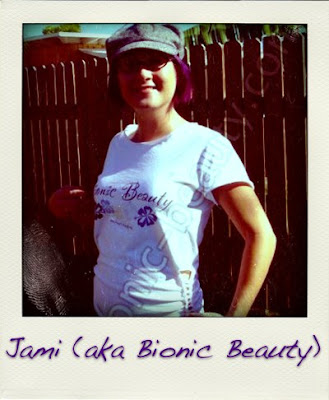 Bionic Beauty sports her T shirt