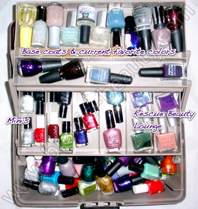 Bionic Beauty's current nail polish storage totes
