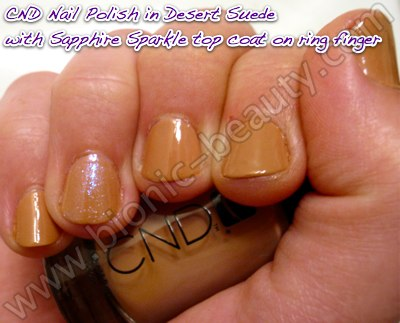 Bionic Beauty swatch and review - CND nail polish in Desert Suede