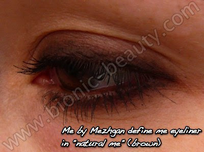 Creating a smokey eye with Mezhgan eyeliner