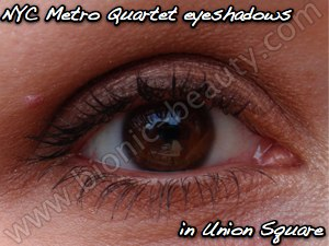 New York Color cosmetics - eyeshadow look in Union Square