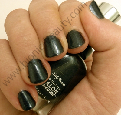 Bionic Beauty blog review and swatch - Sally Hansen Complete Salon nail polish in Black Platinum