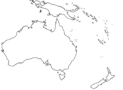 Dibujos para pintar como el mapa de oceanía - Imagui