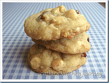 white choco cranberry cookies