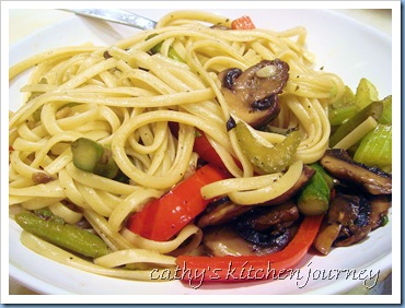 veggie stir fry pasta