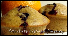 healthy blueberry orange muffins