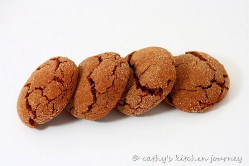 chocolate ginger sugar cookies