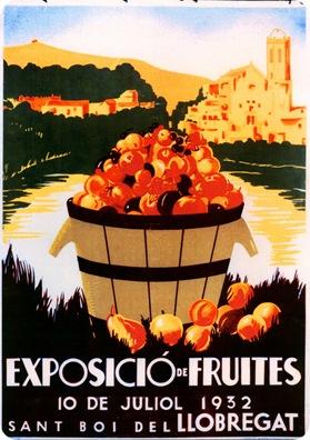 1932-Exposició fruites - cartell