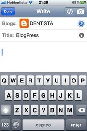 Blogger no Iphone