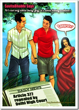 Savita Bhabhi Says Congrats on the repeal of Section 377