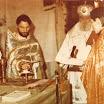 October, 1991. The temple is finally returned to church community. One of the first Liturgies. Жовтень 1991 року. Храм нарешті повернутий церковній громаді. Одна з перших літургій.